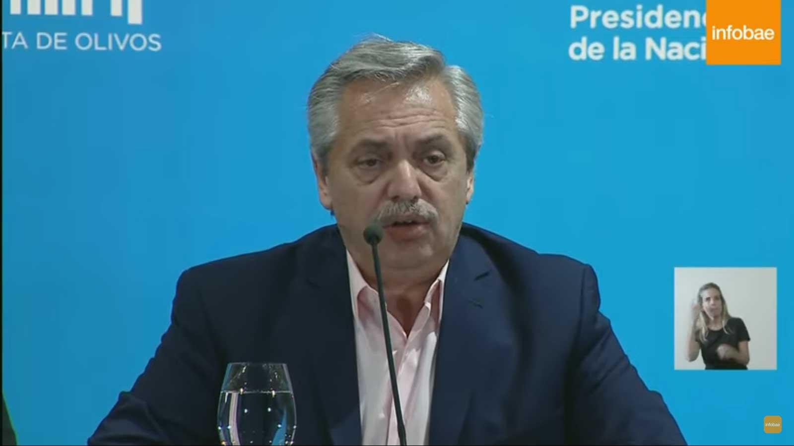 CORONAVIRUS: Estamos en cuarentena, el Presidente Fernandez lo anunció por canales On Live [VIDEO]